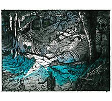 Cave Couple (Just Married) Photographic Print