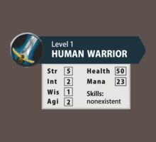Human level 1 - wow warrior funny Kids Clothes