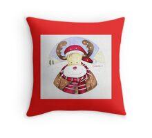 Renna di Natale Throw Pillow