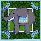 Elephant Coloured PVC  by Donna Huntriss