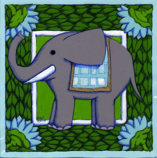 Elephant Coloured PVC  by Donna Huntriss