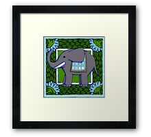 Elephant Coloured PVC  Framed Print