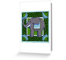 Elephant Coloured PVC  Greeting Card