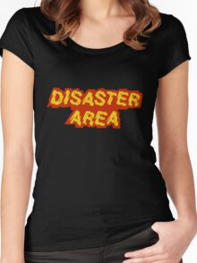 Disaster Area band t-shirt Women's Fitted Scoop T-Shirt
