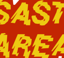 Disaster Area band t-shirt Sticker
