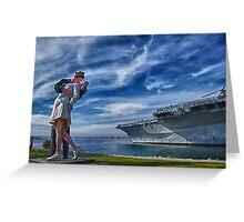 San Diego Sailor Greeting Card