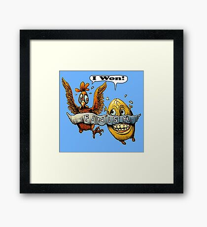 Who came first? Framed Print