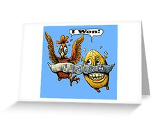 Who came first? Greeting Card