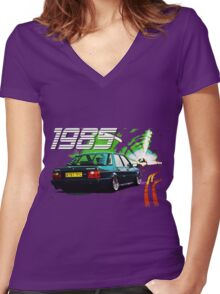 1985 Montego Women's Fitted V-Neck T-Shirt