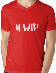 #WIP (white on black) Mens V-Neck T-Shirt