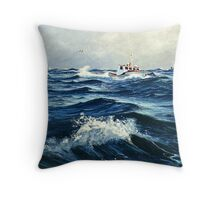 """Beating The Storm"" Throw Pillow"