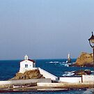 """Little Church on the Andros Coast by Christine """"Xine"""" Segalas"""