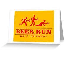 Beer Run Greeting Card