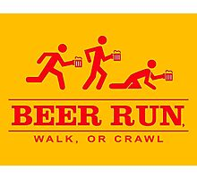Beer Run Photographic Print