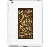 Beer Lovers Word Cloud  iPad Case/Skin
