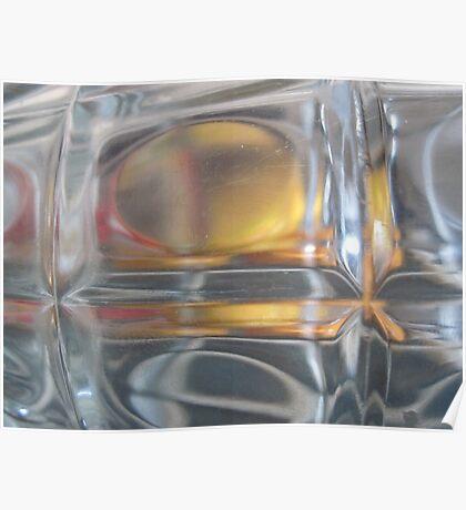 Mandarins Through a Beer Glass Poster