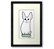 His name is Boris and he likes books - Victorian illustration Framed Print