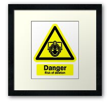 Cyberman Danger! Framed Print
