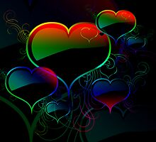 Rainbow Hearts by Eric Jimenez