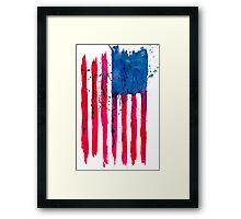 Watercolor Flag of the USA vertical Framed Print
