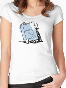 Book about nice things - Victorian illustration Women's Fitted Scoop T-Shirt
