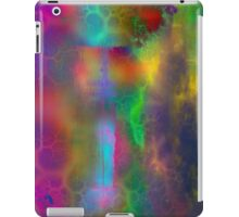 Colorful abstract landscape over lake iPad Case/Skin