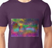 Colorful abstract landscape over lake Unisex T-Shirt