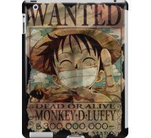 Monkey D Luffy. Dead Or Alive! iPad Case/Skin