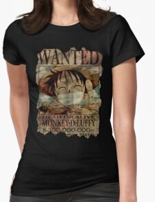 Monkey D Luffy. Dead Or Alive! Womens Fitted T-Shirt