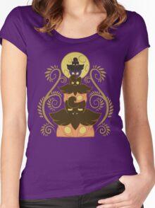 Pumpkaboo tower Women's Fitted Scoop T-Shirt