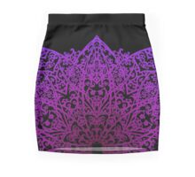 Filigree Mandala *purple & pink* Mini Skirt