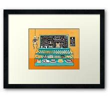 The Halloween Bakery Framed Print