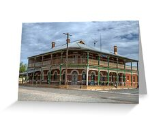 Australian Country Pub, Mirrool, NSW   Greeting Card