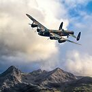 Lancaster Over the Black Cuillins of Skye by SWEEPER