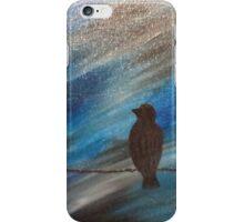 bird on a wire blue iPhone Case/Skin