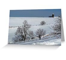 Winter on the Hillside Greeting Card