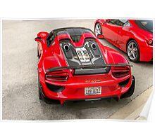 Porsche 918 Spyder Rear Poster