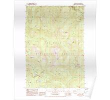 USGS Topo Map Oregon High Rock 280204 1985 24000 Poster