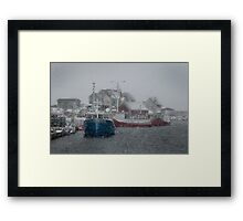 Peggy's Cove in a Snow Storm Framed Print