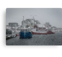 Peggy's Cove in a Snow Storm Canvas Print