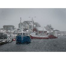 Peggy's Cove in a Snow Storm Photographic Print