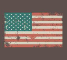 Grungy US flag One Piece - Short Sleeve