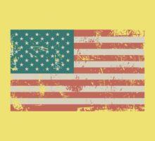 Grungy US flag Kids Tee