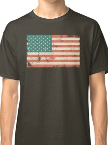 Grungy US flag Classic T-Shirt