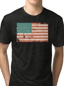 Grungy US flag Tri-blend T-Shirt