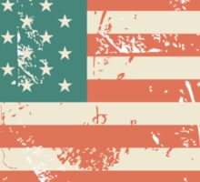 Grungy US flag Sticker