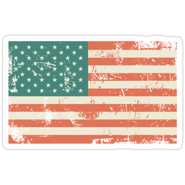 Grungy US flag by Anastasiia Kucherenko
