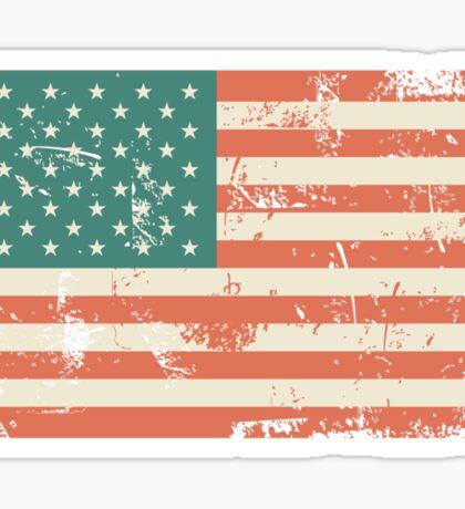 Grungy US flag Sticker