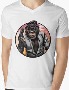 Monkey Vice Mens V-Neck T-Shirt