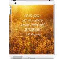 Octobers 2 iPad Case/Skin
